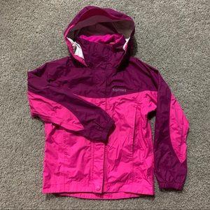 Marmot Girls Rain Jacket XS Purple Hooded